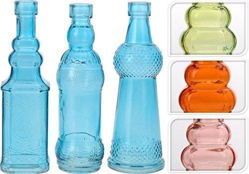 DRULINE Deko Glasflasche Dekoflaschen Likörflasche Vase Apotheke Flasche Flakon Tisch Dekoration...