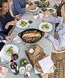 Aminata-Home – Tischdecke Rot 70% Baumwolle 30% Polyester Teflon á 160x270 cm *Made in Europe* abwaschbar Schmutz- & Wasserabweisend Tischläufer Weinrot Bordeaux Tischtuch Tischwäsche Tischdeko - 5