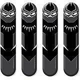 Autographix 1005621 Graphic Door Edge Guard Car Stickers (Set of 4, Black)