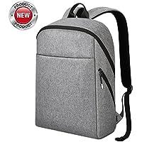 Zaino pc 15.6 pollici, REYLEO Zaino porta pc Backpack Laptop Borsa resistente all'acqua uomo e donna ideale per scuola e business ( Grigio )