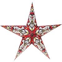 Tutoy 2017 Navidad decoración árbol de Navidad Estrella Pentagrama Pantalla Estrella de Papel Linterna Colgante decoración
