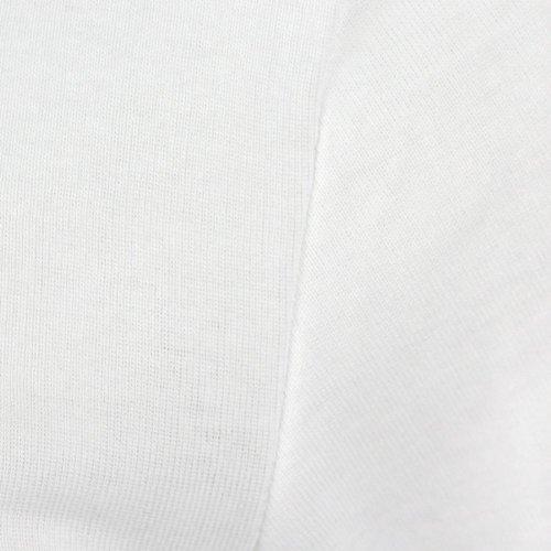 Weiße Shirts mit Rundhals im Doppelpack // Bis 6XL Weiß / Weiß