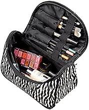 DAYAN Maquillaje caso cosmético Neceser cebra viaje del organizador del bolso (Zebra)