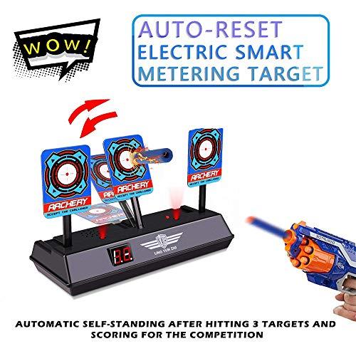 Zielscheibe für Nerf, Shooting Target Elektrische Ziel Toy Gun Elektrische Punktzahl Ziel Automatische Wiederherstellung Zubehör für Nerf Soft Bullet Gun Spielzeug - Target Shooting Kunststoff