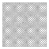Tapete Punkte - Weiße Punkte auf Grau - Muster Vliestapete Quadrat, Größe HxB: 240cm x 240cm