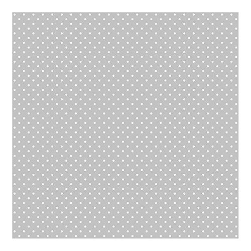 Vliestapete Weiße Punkte auf Grau, HxB: 288cm x 288cm