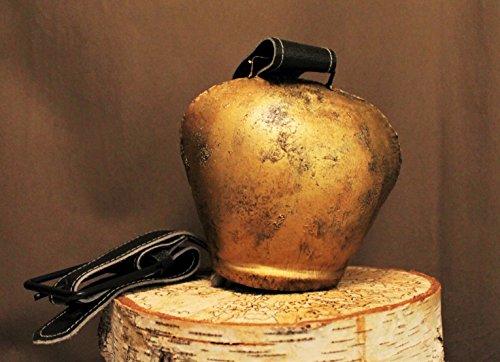 handellampe.de Kuhglocke ca. 18cm hoch, ca. 17cm breit, inkl. Ledergurt;