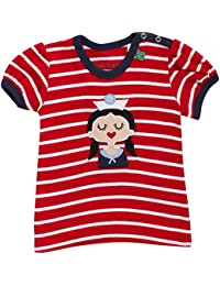 Fred'S World By Green Cotton Sailor Stripe T Girl Baby, T-Shirt Bébé Fille