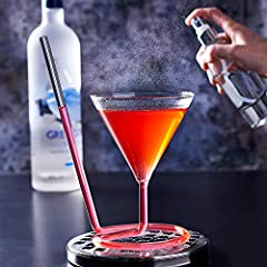 Idea Regalo - bar@drinkstuff Bicchiere da cocktail Siptini 220 ml con cannuccia integrata