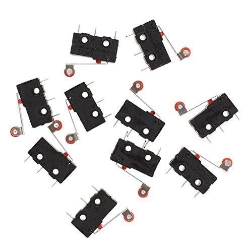 SODIAL (R) 10 Stueck Mini Micro Endschalter Roller Lever Arm SPDT LOT