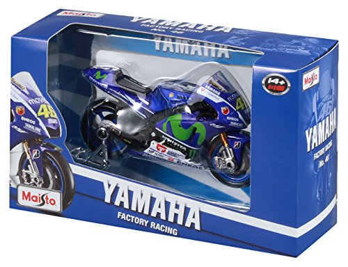 Maisto 34589 - 2015 yamaha factory racing team (#46), scala 1:18, blu
