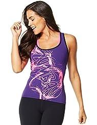 Zumba Fitness Haze - Camiseta sin mangas para mujer, color violeta, talla XS