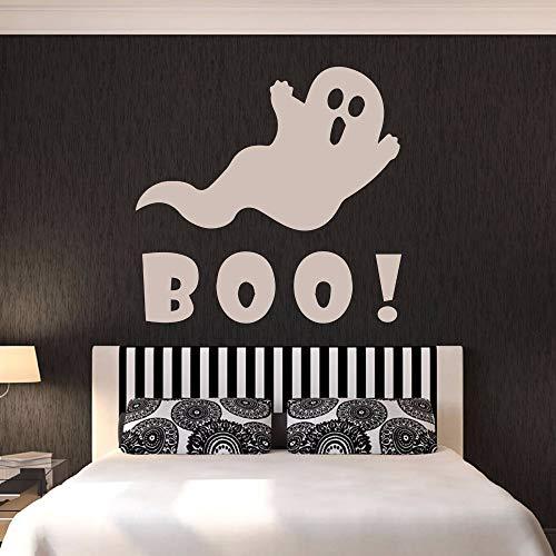 wandaufkleber küche holz Boo-Karikatur-Geist für Feiertagswohnzimmer-Halloween-Schlafzimmer-Ausgangsaufkleber