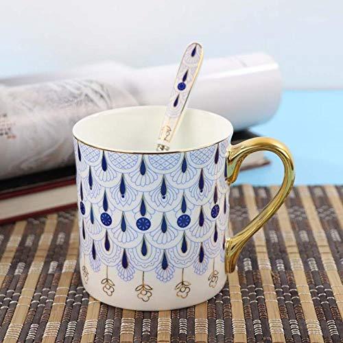 Kaffeetassen Einfacher blauer Pfau kreativen Designs Jingdezhens keramischer Tassen