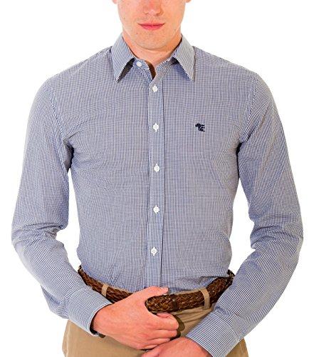 Chemise Business Pour Homme, Ajustée-Super Slim, Manches Courtes, Noir et Blanc, Bleu Mix, disponible en tailles XS-6XL Bleu Mix