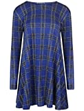 Get The Trend Damen Skater Kleid Gr. M/L 38/40, Blue Lurex Check