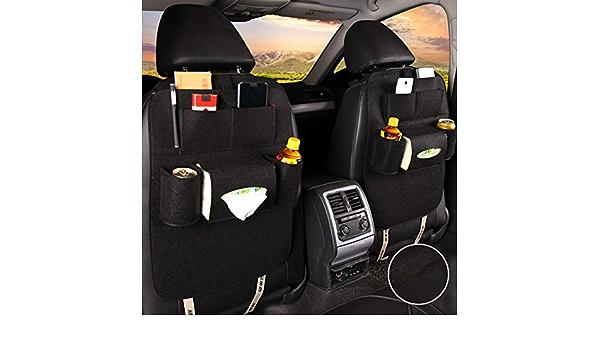 Cestbon Auto Rücksitz Organizer Rücklehnenschutz Filz Autositz Rückenlehnentasche Kinder Rückenlehnenschutz Tasche Schwarz Küche Haushalt