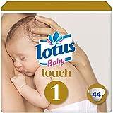 LOTUS BABY TOUCH – Couches Taille 1 (2-5 kg/Nouveau-Né) - x44 couches - Lot de 2 (88 couches)