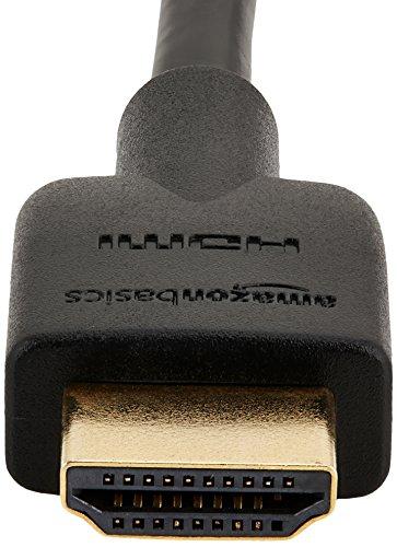 AmazonBasics -  Cable HDMI 2.0 de alta velocidad (Ethernet,  3D,  vídeo 4K y ARC,  0, 9m,  2 unidades,  estándar más reciente)