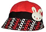 GD Girl's Sun Hat (Red,3-6yrs )