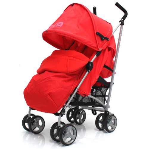 ZETA VOOOM – Warm Red COMPLETE + Deluxe 2in1 FOOTMUFF WITH POUCHES liner zip off padded Warm Red + HEADHUGGER + RAINCOVER 519eWemm4KL