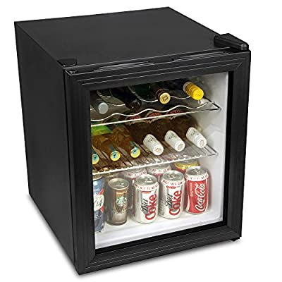 Frostbite Wine Fridge 49ltr Black - 49ltr Mini Fridge Wine Chiller and Mini Fridge from bar@drinkstuff