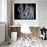FORWALL Bilder Tiger O1 (100cm. x 75cm.) Leinwandbilder Wandbild AMFPP10202O1