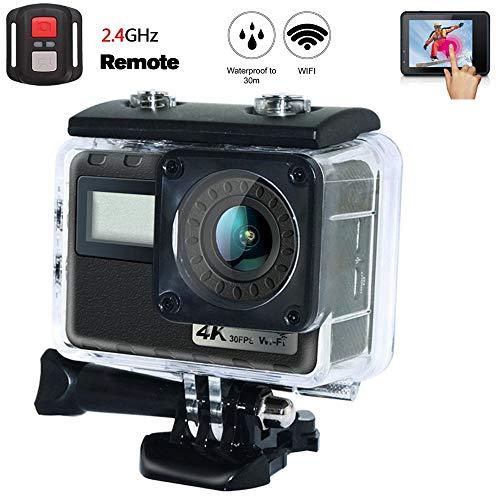 Tauchen Sport Kamera, 4K 16MP WiFi Outdoor Action Cam 2,0 Zoll Touchscreen-Unterstützung Loop-Aufnahme, Slow Motion Shooting DV Geeignet für Skifahren