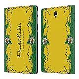 Head Case Designs Offizielle Frida Kahlo Rahmen Blumig Purpur Brieftasche Handyhülle aus Leder für Samsung Galaxy Tab S4 10.5 (2018)