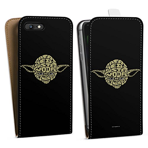 Apple iPhone 4s Hülle Premium Case Cover Star Wars Merchandise Fanartikel Yoda Typo Downflip Tasche weiß