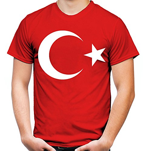 Türkei Männer und Herren T-Shirt | Spruch Wappen Fußball Geschenk (L, Rot)