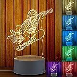 3D bunte Lampe Nachtlicht Nachtlampe Nachttischlampe 7 Farben ändern Touch & Fernbedienung Control...