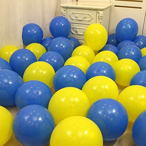 0-Zoll-Runde Royal Blue Yellow Balloon, Abschlussfeier, Schulparty, Minion Party, Hochzeit, Kinder Geburtstag Versorgung, ()