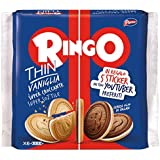 Pavesi Biscotti Ringo Thin Vaniglia Sottili, Snack per Merenda o Pausa Studio - 234 gr