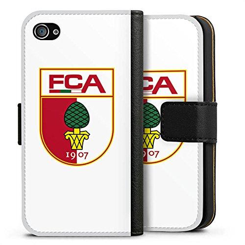 Apple iPhone X Silikon Hülle Case Schutzhülle FC Augsburg Fanartikel Fussball Sideflip Tasche schwarz