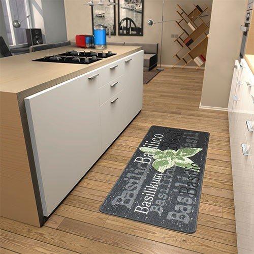 Küchenläufer Basilikum in Grau Teppichgröße: Läufer 80 x 200 cm