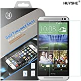 PThink® 0.3mm Ultra-thin Tempered Glass Screen Protector for HTC One M8 with 9H Hardness/Anti-scratch/Fingerprint resistant (HTC One M8)