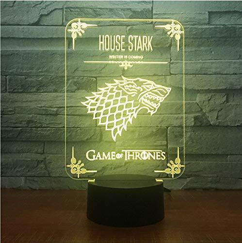Luz Nocturna Juego De Tronos Casa Stark