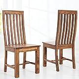 CAGÜ Exklusiver Stuhl [Salem] aus SHEESHAM Massiv Holz Gewachst - Komplett MONTIERT! Neu!