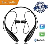 Teconica HBS-730 Neckband Bluetooth Wireless Sport Stereo Headsets with Microphone for All Android, Windows and iOS Devices