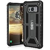 Urban Armor Gear Premium Monarch Schutzhülle nach US-Militärstandard für das Samsung Galaxy S8 - Graphit grau [Verstärkte Ecken | Sturzfest | Leder | Strukturierter Rahmen | Vergrößerte Tasten] - GLXS8-M-GR
