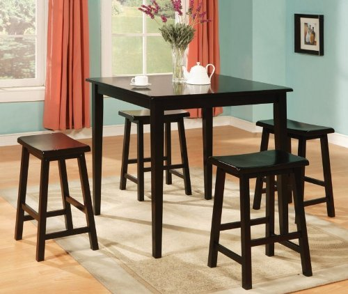 5pc-counter-height-dining-table-stools-set-black-finish-150291n-by-coaster-home-furnishings