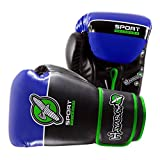 Hayabusa MMA Sport 12oz Boxing Gloves - Black-Blue-Lime Green