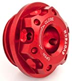 Evotech Tappo olio motore in ergal M22x1,5 Rosso
