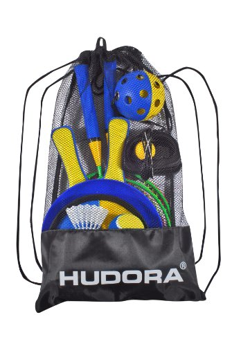 HUDORA Strandspiel-Set, 11-teilig - Beachball Beachvolleyball - 77460