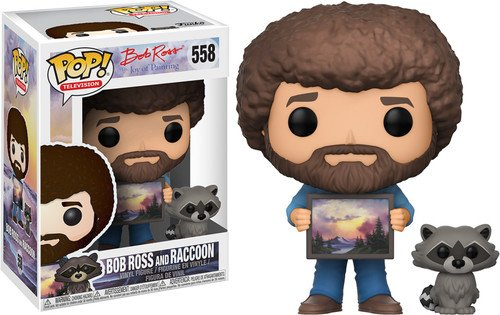 Pop Bob Ross with Raccoon Vinyl Figure