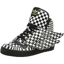 online store 43f29 bd4a4 adidas Jeremy Scott Caballeros Sneakers JS WINGS OPART Negro Blanco