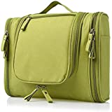 PETRICE Multifunctional Travel Toiletry Bag Extra Large Makeup Organiser Cosmetic Case Household Grooming Kit Storage Travel Kit Pack with Hook (Green)