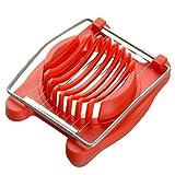 Eierschneider, YouGer Edelstahl Einfach zu bedienen, für Küche gekochte Eier (rot)