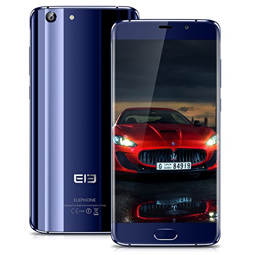 Elephone S7 4G LTE Smartphone 5.5 Zoll HD Touch-Display, 4GB RMA + 64GB ROM, Deca Core, Android 7.0 Handy ohne Vertrag, Dual SIM, 5MP/13MP Dual Kamera, Fingerabdruck, OTG GPS AGPS, Blau